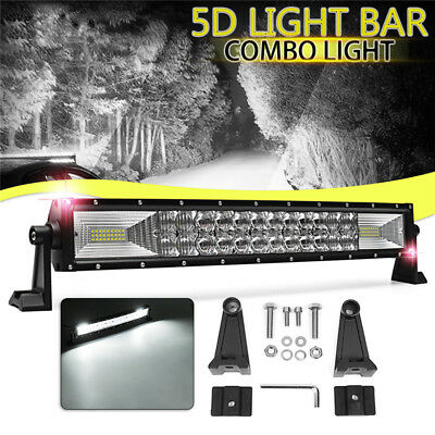 22 Inch 720W 5D Curved LED Work Light Bar Flood Spot Offroad Lamp Car Truck 4WD