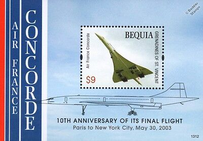 Air France CONCORDE Paris-New York City Flight Airliner Aircraft $9 Stamp Sheet