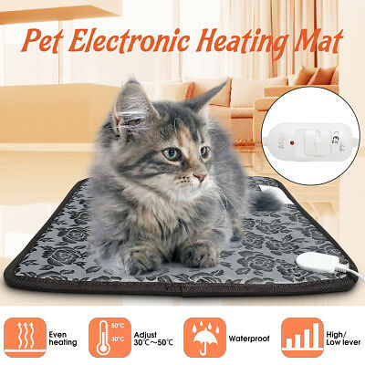Pet Cat Winter Warm Electric Pad Blanket Heat Heated Heating Mat Dog Bunny Bed