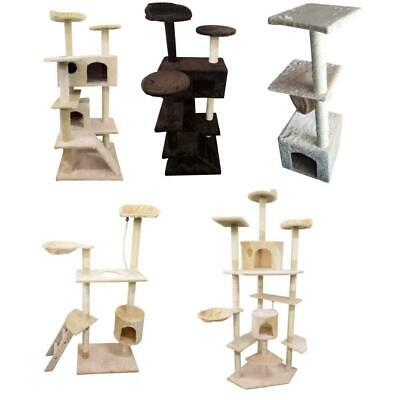 """60""""/36"""" Cat Tree Play House Tower Condo Furniture Scratch Post Toy Bed Pet Kitty"""