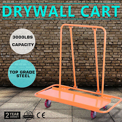 Drywall Cart Dolly Handling Sheetrock Panel 3000LBS Metal Heavy Duty Casters