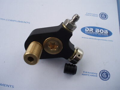 Weihrauch HW100 Buddy bottle conversion made by Dr Bob fits std stock see pic