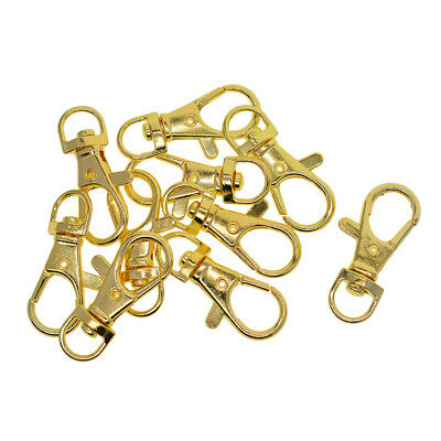 10x Metal Swivel Clasp Lanyard Hook Snap Clips Jewelry Making Lobster Clasps