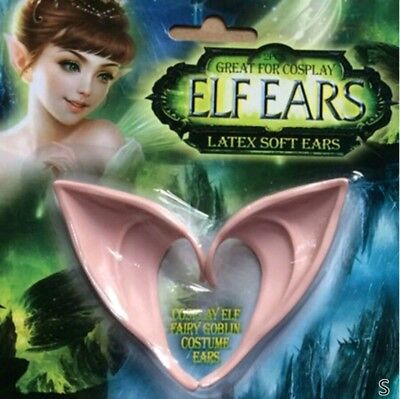 Elf ears lord of the rings Elf fancy dress Latex Pointy Fairy Pixie Cosplay