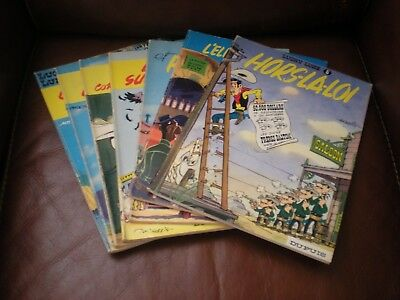 Lucky Luke - Lot De 7 Tomes Editions Anciennes Brochees (Souples)
