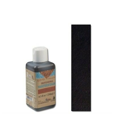 250ml Black Eco Leather Water Stain - -flo Professional Water Dye Colour Tandy