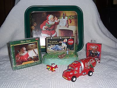 (A012) Coca-Cola Collectibles-Musical Bank (Used), CD, Tray, Cards, Truck, Plane