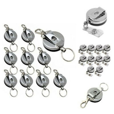 New Retractable Heavy Duty Reel Badge ID Holder Belt Clip Nurse Name Card Key