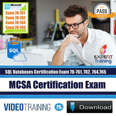 MCSA SQL Server Database Exams 70-761 70-762 70-764 70-765 Training DOWNLOAD