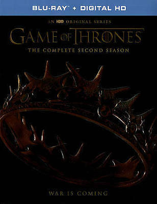 Game of Thrones: The Complete Second Season (Blu-ray Disc, 2016, 5-Disc Set)