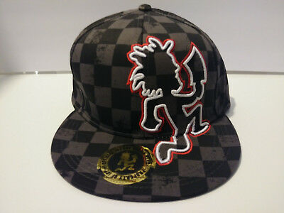 NEW Insane Clown Posse Hatchet Man Checkered Fitted Hat Size Small