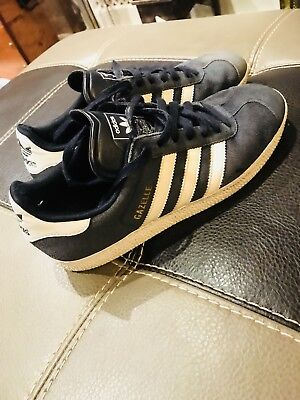 Adidas Gazelle Trainers Men's Size 7 Good Condition Blue Suede