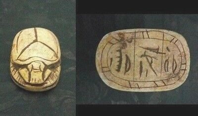 RARE ANCIENT EGYPTIAN SCARAB ANTIQUE Carved SCARAB Stone RARE( 1245 - 1110 ) BC