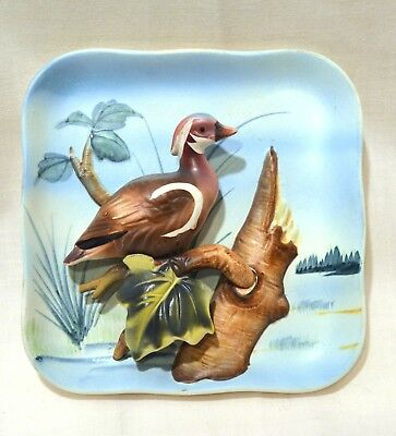 WOOD DUCK by GC JAPAN (aka Giftcraft) ceramic wall decoration or figurine