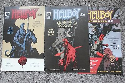 Hellboy The Wild Hunt #2 and #1 | 2008 | 1st Nimue, The Blood Queen +Bonus