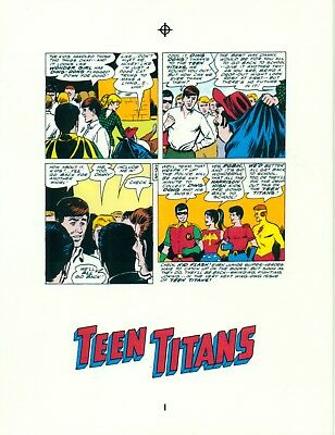 Nick Cardy Teen Titans # 3 pages 24 & 25 production art/transparency