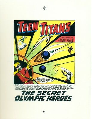 Nick Cardy Teen Titans # 4 pages 1, 4, 9, 11 & 22 production art/transparency