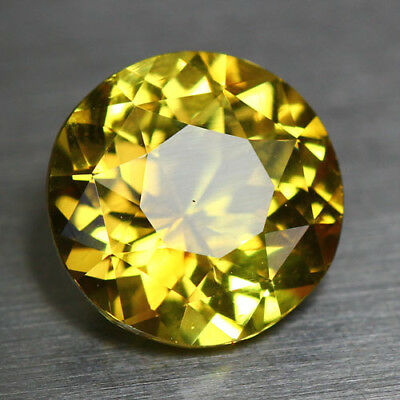 3.79 Cts Certified 100 % Natural Unheated Chrysoberyl_Round Brilliant_Srilanka