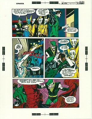 Neal Adams Green Lantern # 80 pages 13, 16 & 17 production art/transparency