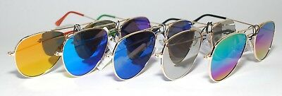KIDS AVIATOR MIRROR Sunglasses Gold Metal Frame COOL SMOOTH 100 UV K-003