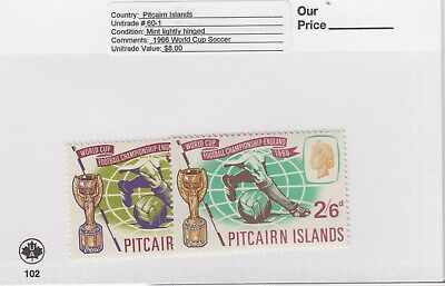 Pitcairn Is. - 1966 World Cup Football Set. Sc. #60-1. SG #57-8. Mint