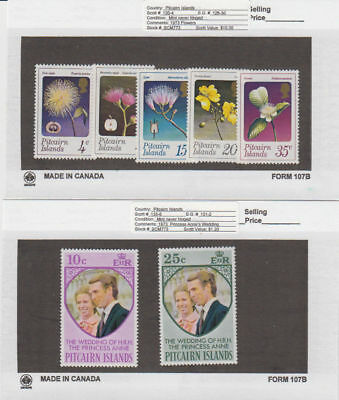 Pitcairn Is. - 1973 Commemorative Sets. Sc. #130-6. SG #126-32. Mint