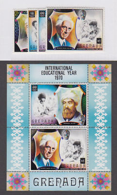 Grenada - 1971 Educational Year Set & S/S. Sc. #399-402a, SG#428-432. Mint NH