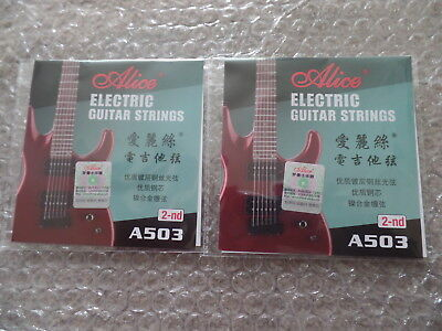 UK FIRST CLASS POST - 1 x Alice Electric Guitar 2nd B String Gauge 011 2nd B