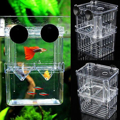 Aquarium Fish Breeding Box Fry Tank Hatchery Two-layer Self-floating Incubator