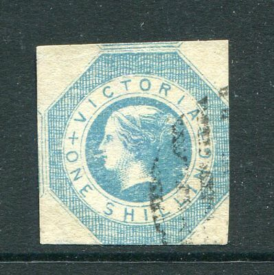 Victoria 1854 1S Light Blue Octagonal Imperf Minor Thin Otherwise Fu