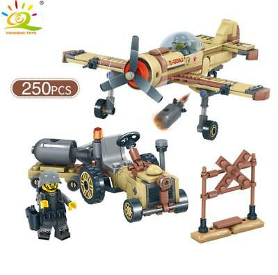250pcs Soviet Air Force LAGG-3 Fighter Plane Building Block with Soldier Figures