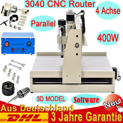 4 Axis 400W Spindle 3040T CNC Router Engraving Milling Drilling Cutting Machine