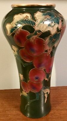 Antique Plum Vase Oriental Satsuma Asian Porcelain Dynasty Hand Painted Pottery