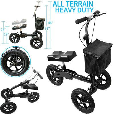 All Terrain Knee Rover Steerable Scooter Walker Heavy Duty Crutches Drive Cart