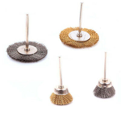 Stainless Steel/Copper Bristled Wire Wheel Brushes Cup/Flat Drill Rust Removal