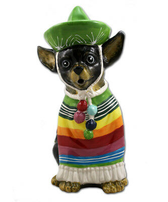Gorgeous Mexican CHIHUAHUA Ceramic Teapot by Heather Goldminc * Blue Sky