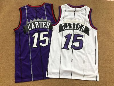 cheap for discount 754fa 919ff VINCE CARTER #15 Toronto Raptors Throwback Basketball Jersey Stitched Mens