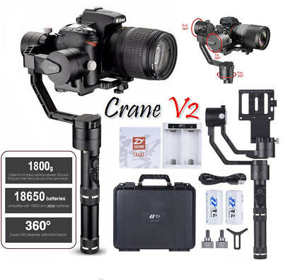 Zhiyun Crane-V2 3-Axis Stabilizer Follow Focus for DLSR Carry up to 3.9 LBs