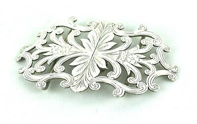 Antique Victorian Sterling Silver Nurses Belt Buckle Birmingham 1899
