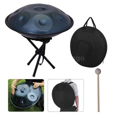 9 Notes Handpan Hand Drum Carbon Steel Material Instrument+Metal Stand Bag HOT