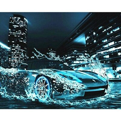 Car DIY Digital Oil Painting Paint By Number Canvas Home Wall Decor Frameless