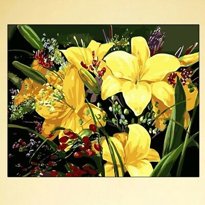 Clivia DIY Digital Oil Painting Paint By Number Canvas Room Home Decor Frameless