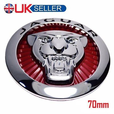 ⭐️⭐️ ⭐️ JAGUAR GROWLER GRILLE BADGE EMBLEM  RED 70mm XJ & XF ⭐️⭐️⭐️