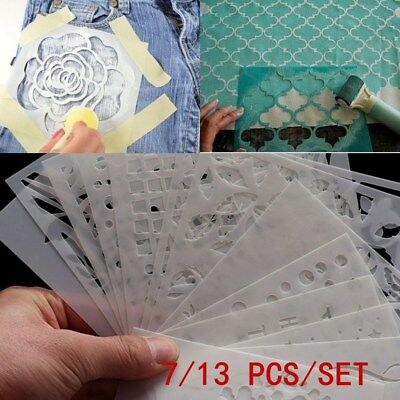13pcs/set Wall Painting Scrapbooking Layering Stencils Embossing Template Craft