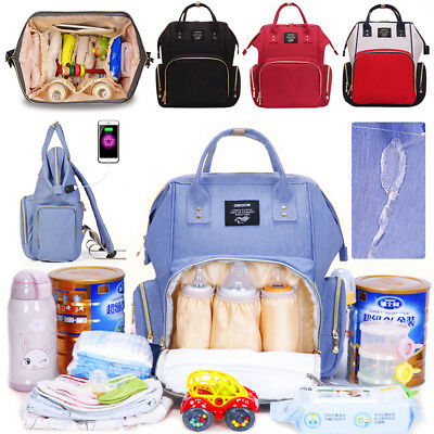3 in 1 Maternity Bag Baby Nappy Diaper Changing Backpack Mummy Travel Rucksack