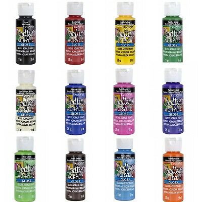 DecoArt - Gloss - Acrylic Paint Crafters - All Purpose 59ml  2oz - 14 Colours