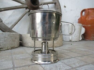 Antique / Vintage Brass Chromed Complete Rare Alcohol Stove Old Portable Joint