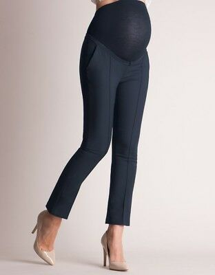 Seraphine Tailored Navy Cropped Trousers Size 6 Brand New
