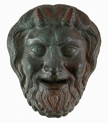 Pan Mini Mask with bronze color effect- Dionysos God of Wild - Ancient Greece