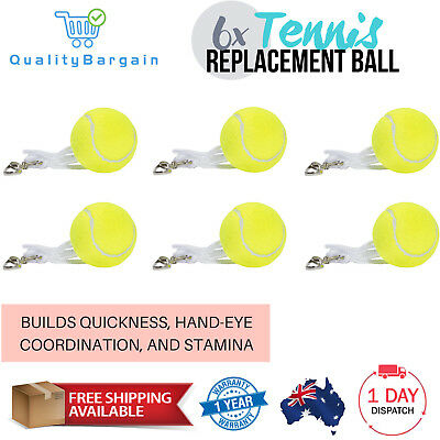 6x Totem Tennis Ball Replacement Backyard Trainer Spare Hook String Cord Balls